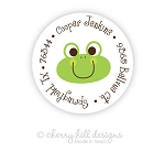Froggie round labels