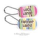 Nautical mini tag {pink or blue}