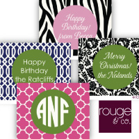 custom gift tags by rouge & co.