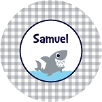 Shark melamine kids plate