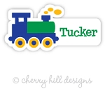 Train mini die cut name labels - set of 26