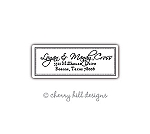 return address labels - set of 75 - BLACK & WHITE