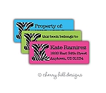 return address labels - set of 75 - JET SET