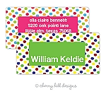 Circus jumbo labels {pink or green}