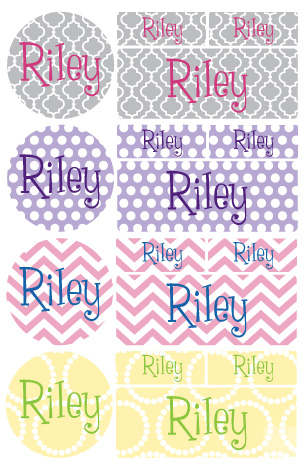iron-on clothing name labels combo - set of 48 - GROWIN' UP