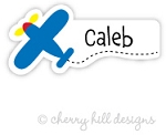 waterproof name labels - set of 26 - AIRPLANE