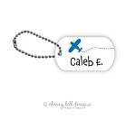 Airplane mini tags - set of 2