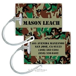 Personalized rectangle premium bag tag - CAMO BROWN
