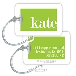 Personalized rectangle premium bag tag - COSMOPOLITAN LIME