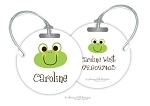 Personalized round premium bag tag - FROG