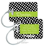Personalized rectangle premium bag tag - GUMDROP BLACK