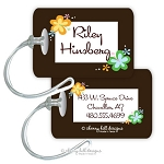 Personalized rectangle premium bag tag - HANG TEN