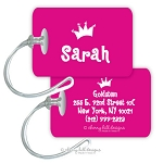 Personalized rectangle premium bag tag - PRINCESS