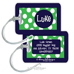 Personalized rectangle premium bag tag - SAILOR GREEN