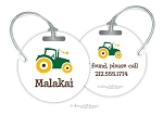 Personalized round premium bag tag - TRACTOR