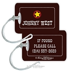 Personalized rectangle premium bag tag - WILD WEST