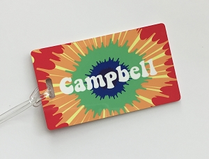 Personalized rectangle premium bag tag - SKIPPY HIPPIE