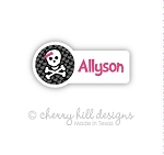 waterproof name labels - set of 26 - BOW N SKULL
