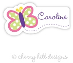 waterproof name labels - set of 26 - BUTTERFLY