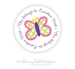 Butterfly round labels