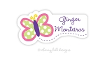 waterproof name labels - set of 24 - BUTTERFLY