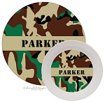 Personalized Kids Melamine Dinnerware - CAMO BROWN