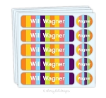waterproof name label packs - set of 48 - CANDY