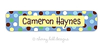 waterproof name labels - set of 24 - CARNIVAL BLUE