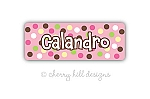Iron-on Clothing Name Labels - set of 42 - CARNIVAL PINK
