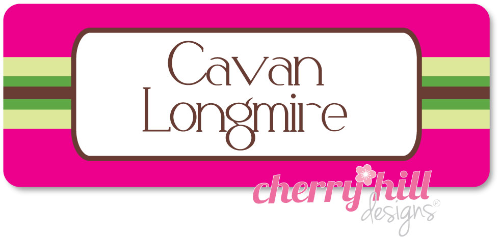 Iron-on Clothing Name Labels - set of 42 - PREPPY PINK
