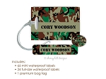 Kids Waterproof Name Labels & Bag Tag Combo Packs - Camo Brown
