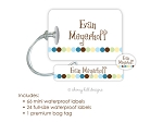 Kids Waterproof Name Labels & Bag Tag Combo Packs - Dot Dot Dot Dot Blue