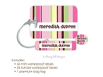 Kids Waterproof Name Labels & Bag Tag Combo Packs - Nautical Pink
