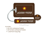 Kids Waterproof Name Labels & Bag Tag Combo Packs - Wild West