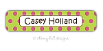 waterproof name labels - set of 24 - CONFETTI LIME/PINK