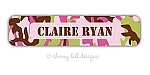 waterproof name labels - set of 24 - CAMO PINK