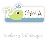 waterproof name labels - set of 26 - WHALE