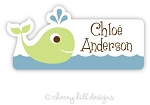 waterproof name labels - set of 24 - WHALE