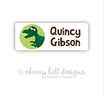 Iron-on Clothing Name Labels - set of 42 - DINOSAUR