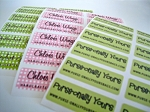 Iron-on Clothing Name Labels - set of 42 - DESIGN YOUR OWN