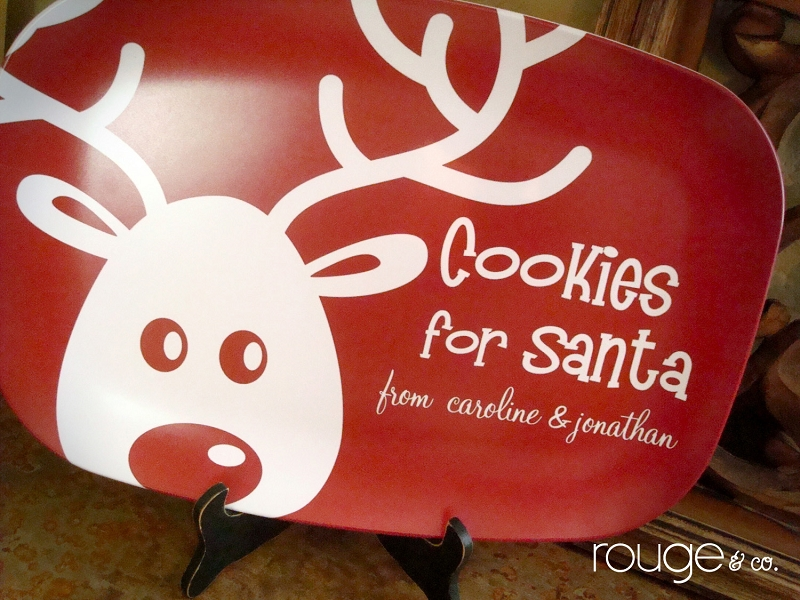 Cookies for Santa holiday platter