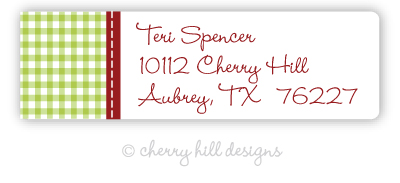 Gingham {holiday} small labels