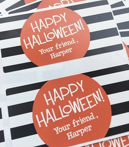 Halloween goodie tags - Black & White - set of 24