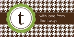 Houndstooth {green} gift tag labels