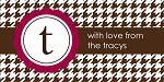 Houndstooth {red} gift tag labels
