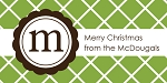 Trellis {green} gift tag labels