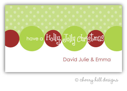 Holly Jolly {holiday} gift tag labels