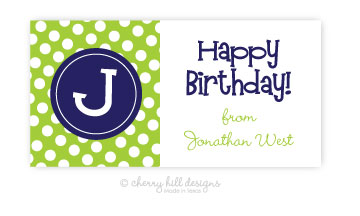 Initially Yours {navy} jumbo labels