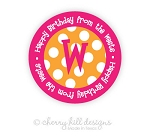 Initially Yours {pink} round labels