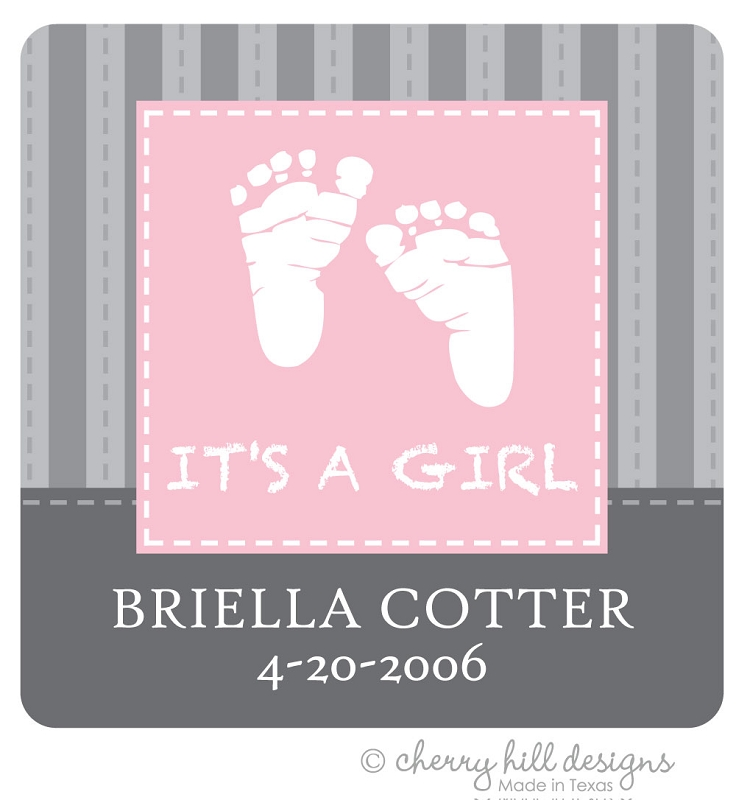 It's a Girl! Gift Tags - Set of 24